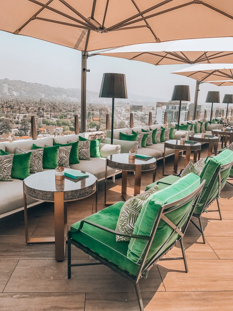 View from The Rooftop by JG at Waldorf Astoria in Beverly Hills.